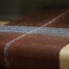 カラムシのベンガラ染 織布