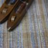 カラムシと藍絣染の紙の糸 のれん
